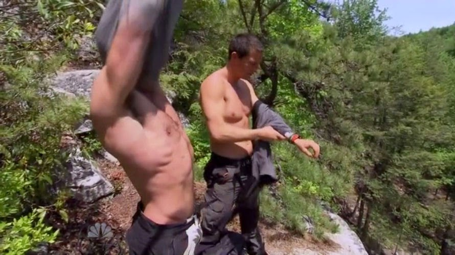 Super Bear grylls jerks off dimepiece. Sexy